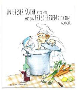 Passepartoutbild von Barbara Freundlieb - 30x24cm - IN DIESER KÜCH WIRD NUR ...
