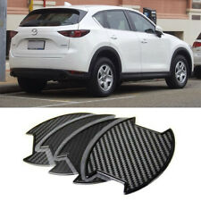 For Mazda CX-5 2012-2019 Carbon texture Side Door Handle Bowl Sticker 4PCS