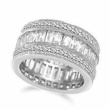 2.50Ct Square Princess & Baguette Eternity Wedding Band Ring