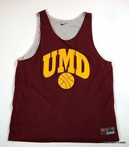 Vintage University Minnesota Duluth Reversible Basketball Jersey XL Team Issued