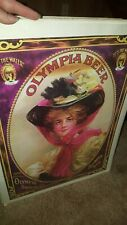 """Vintage Rare Nos (1975) Olympia Beer poster 24"""" x 17 1/2"""" sealed Nos unopened"""
