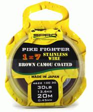 Spro Pike Fighter 1x7 Brown Soft Wire Stahlvorfach 13,6kg