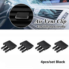 4x Black Car Air Conditioning Vent Louvre Blade Slice Clip For Toyota Corolla