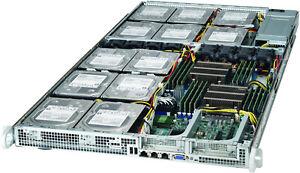 12x 4TB SATA HD HGST RAID Server 1U X9DRFF-7TG+ 2x E5-2630L V2 6017R-73THDP+