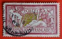 TIMBRE FRANCE  N°121 TYPE MERSON (TB-739-0) 1Fr   OBLITÉRÉ CaD Grammont