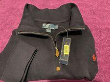 NWT $110 Polo Ralph Lauren Mens Long Sleeve Cotton Sweater Navy 1/4 Zip Big 5X