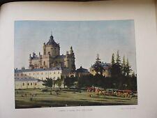 POLOGNE AUTRICHIENNE:Gravure 19°in folio couleur/LEMBERG / EGLISE SAINT GEORGES