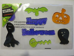 HALLOWEEN ANSTY MANOR GEL CLING WINDOW STICKERS BY SAINSBURY`S