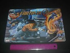 MARVEL COMICS FANTASTIC FOUR 3-D HOLOGRAM PLACEMAT 2005 THE THING, HUMAN TORCH