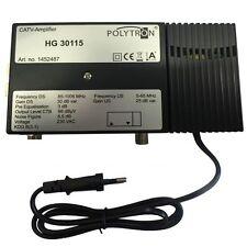 Polytron Hausanschlussverstärker 30dB Digital Kabel BK HD TV Antennenverstärker#