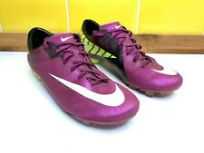 Nike Merc Miracle II FG Lilac Mens Grass Football Boots Moulded Studs - Size 10