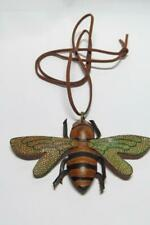 CG3553...REAL LEATHER BEE PENDANT ON SUEDE CORD - FREE UK P&P