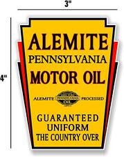 "4"" ALEMITE MOTOR OIL GAS PUMP TANK DECAL LUBESTER DECAL STICKER"