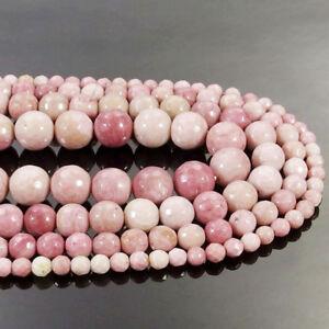 Natural Rhodonite Jasper Gemstone Faceted Round Beads 15.5'' 4mm 6mm 8mm 10mm