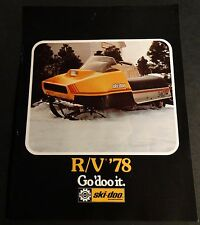 1978 SKI-DOO RV SNOWMOBILE SALES BROCHURE SINGLE PAGE 2 SIDED  (512)