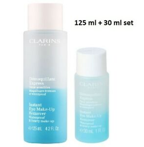 Clarins Instant Eye Make Up Remover set - New - 125 ml  + 30 ml