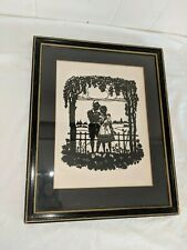 GORGEOUS ANTIQUE SILHOUETTE FRAMED SIGNED L SAUGY