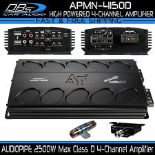 AUDIOPIPE APMN-4150D 4 Channel Car Audio Amplifier 2500W 4CH Stereo Speaker Amp