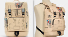 JEAN-MICHEL BASQUIAT SKULL STREET ART LIMITED ED. LEATHER BACKPACK NEW SOLD OUT!