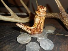 Deer Antler Black Powder Flask