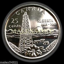 2005P 100th ANNIVERSARY OF ALBERTA  25 CENT UNC FROM ROLL