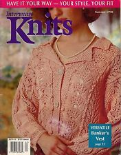 INTERWEAVE KNITS Summer 1998 Custom Sweaters Lace Jacket Spiral Shawl Patterns
