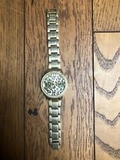 RIVER ISLAND leopard animal gold watch