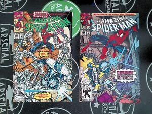 Amazing Spider-Man #359 & 360 SET 1st Carnage Cameo App Marvel 1992