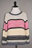CASLON NEW $69 Marl Stripe Long Sleeve V Back Sweater 1X
