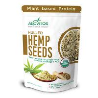 Organic Hemp Seeds Hulled 16oz | Vegan Protein Gluten Free Low Carb | Superfood