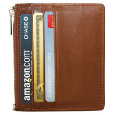 Genuine Leather Slim Front Pocket Credit Card Case Super Thin Soft Mini Wallet