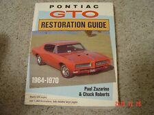 1964-70 Pontiac GTO Restoration Guide Service Manual 500pgs, 1000 illus.