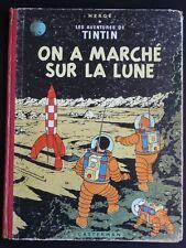 TINTIN On a marché sur la lune B14 1955 EC
