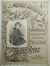 Rare 1st Journal Mundo Artistico Music and Theater 1883 Portuguese A. Reinheimer