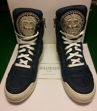 BALMAIN brodé Denim High Top Sneakers SS14-NEUF-EU 42 UK 8