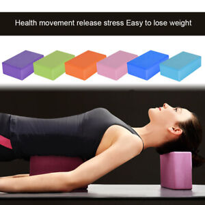 2 x Yoga Block Pilates EVA Foaming Exercise Gym Fitness Up Stretching Foam Brick