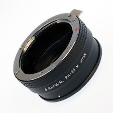 Kindai(Rayqual) Mount Adapter for EOS M body to Pentax K lens Japan Made