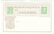 Iceland/Island-Postal Stationery: 1903, 5 aur green & gray-Christian Ix