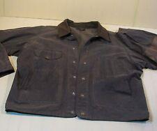 Vintage Filson Tin Cloth Mens XL Jacket Coat Style #420  10007 Waxed Cotton