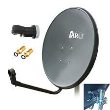 60cm HD Sat Anlage Digital Single LNB 1 Teilnehmer Schüssel Antenne 3D 4K UHD