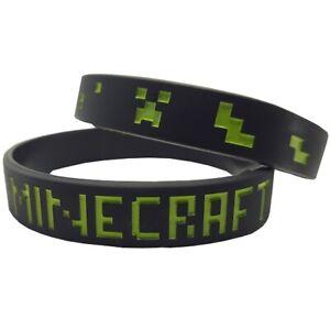 12mm Silicon Rubber Wristband - Minecraft
