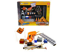 CONSTRUCTION ACCESSORIES SET 1/24 DIECAST CAR BY UNIQUE REPLICAS 18425