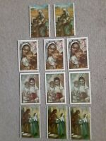 Vintage Oil Look Christmas Cards Set Of 11
