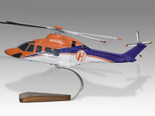 AgustaWestland AW139 Hevilift Solid Wood Handcrafted Display Helicopter Model
