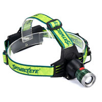 LED Headlamp Head Light Flashlight Head Torch  USB  Rechargeable 3-Modes bright