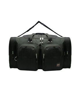 Medium BLACK DUFFELBAG 25 Inch DUFFEL Gym  BAG Bags CarryOn Travel Multi Pocket