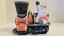 Mib Robert Alan Candle Company Santa Claus Train Locomotive Engine Candle Holder