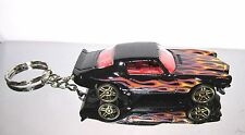 2015 Hot Wheels '70 Classic Antique Camaro With Flames Custom Key Chain Ring!