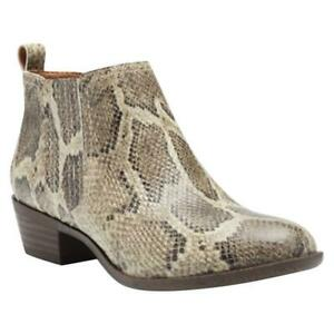 Lucky Brand Women's Bimare Ankle Booties - Natural Snake