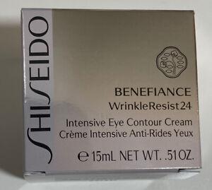 New Shiseido Benefiance WrinkleResist 24 Smoothing Eye Cream 15ml. .51oz In Box